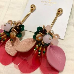 Kate Spade flower earrings— Never worn!